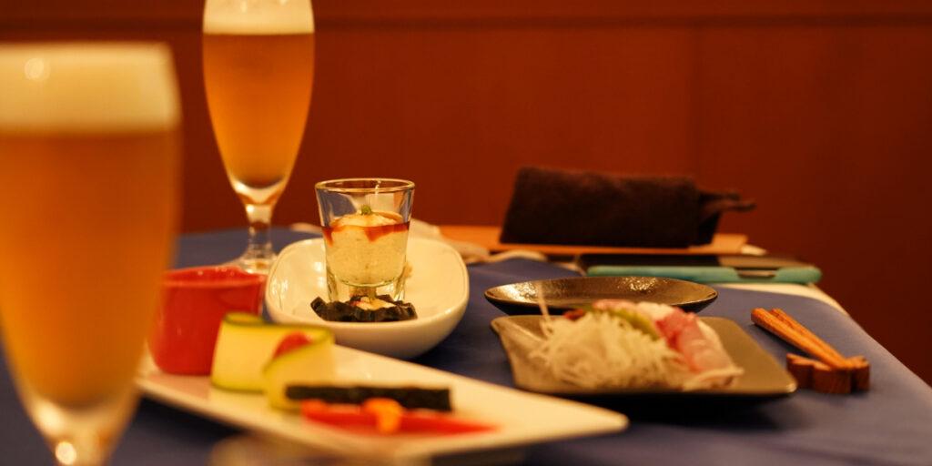 屋久島食材たっぷりの夕食
