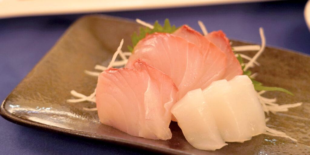 鹿児島産カンパチと水イカのお刺身