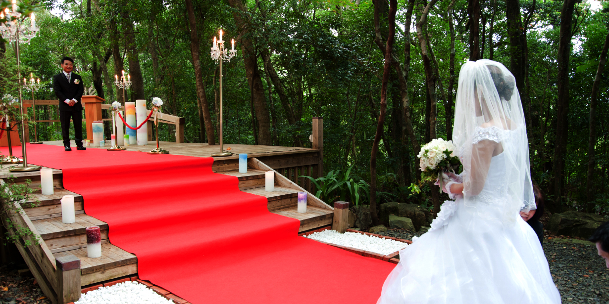 屋久島の森に永遠を誓う「森前式」。屋久島ウェディング